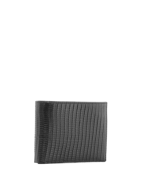 Alfred Men's Wallet Black Printed Leather