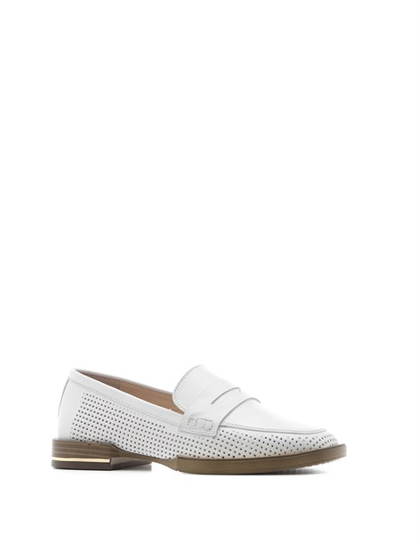Andrea Women's Moccasin White Leather