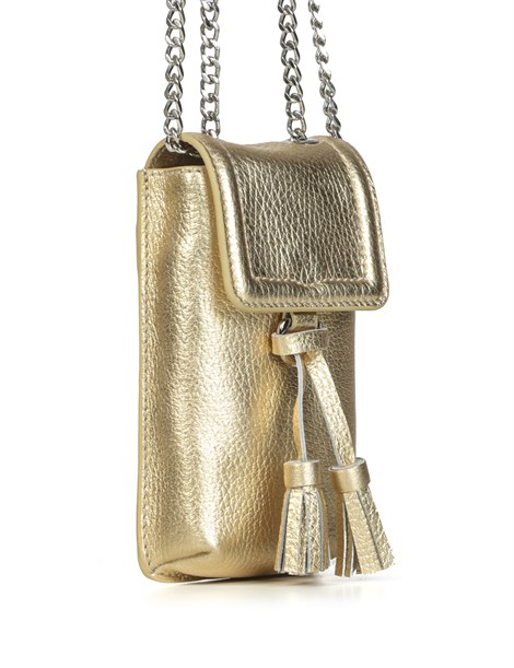 Dominic Women's Shoulder Bag Golden Leather