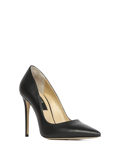 Keyt Womens Stiletto Black Leather