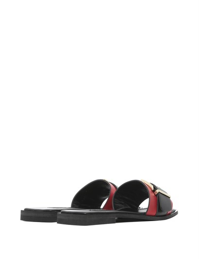 Abella Women's Slipper Red Leather