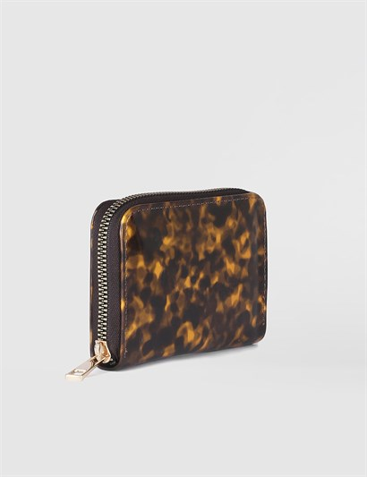 Aciano Leopard Brown Womens Wallet