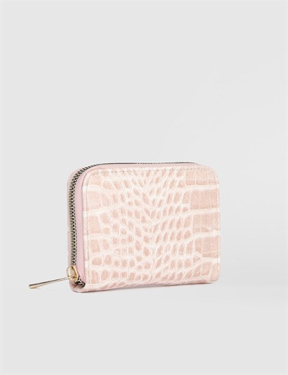 Aciano Powder Pink Crocodile Womens Wallet