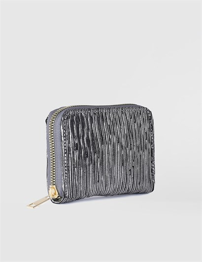 Aciano Black Silver Womens Wallet