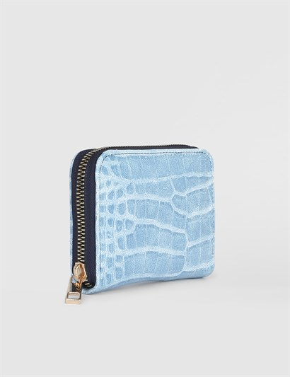 Aciano Turquoise Crocodile Womens Wallet