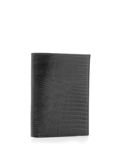 Acton Mens Wallet Black Printed Leather