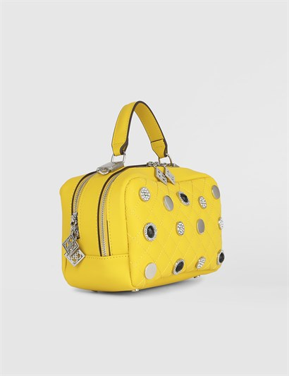Adelma Yellow Womens Handbag