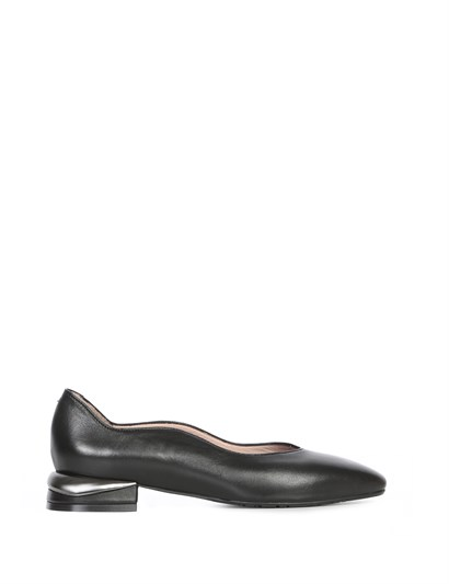 Adiliya Womens Ballerina Black Leather