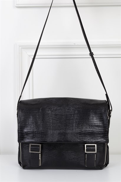 Adolfo Mens Shoulder Bag Black