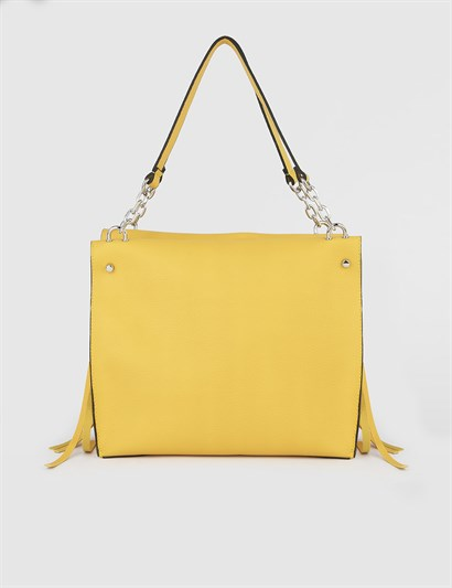 Ailsa Yellow Womens Shoulder Bag