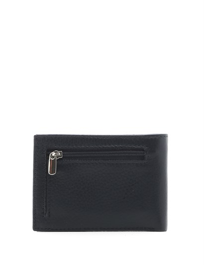 Alfred Mens Wallet Navy Blue Leather