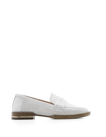 Andrea Womens Moccasin White Leather