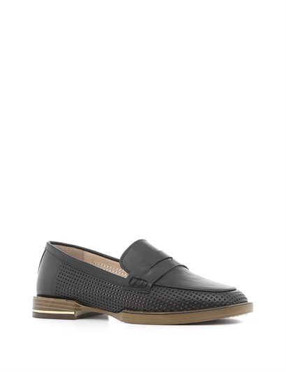 Andrea Women's Moccasin Black Leather