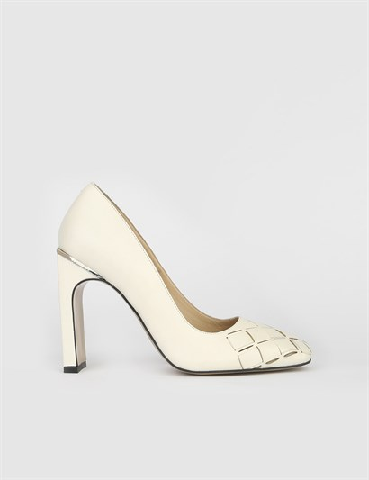 Anna Cream Leather Womens Pump