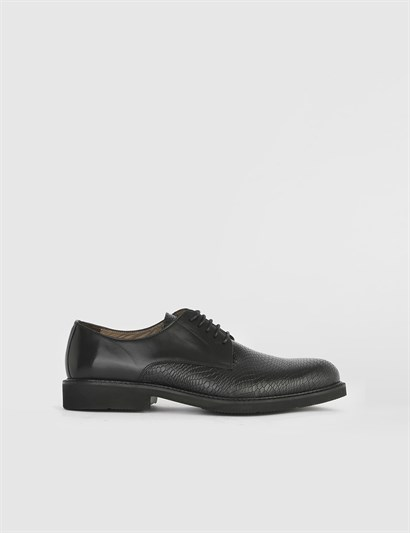 Baht Black Leather - Black Crocodile Mens Classic Shoe
