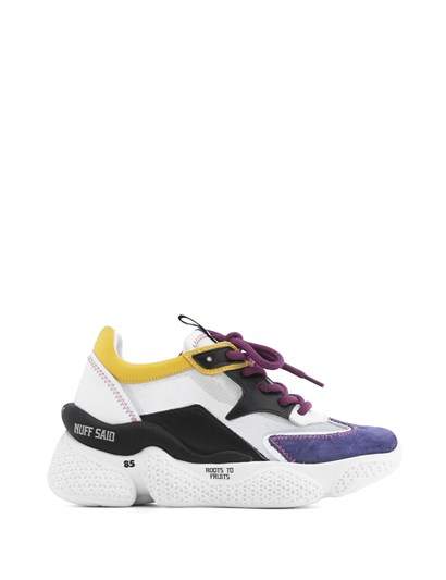 Beliz Womens Sneaker Purple Suede - White Leather - Black Leather - Yellow Leather
