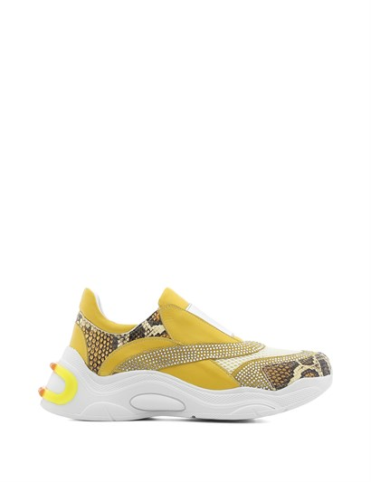Boba Womens Sneaker Yellow Leather