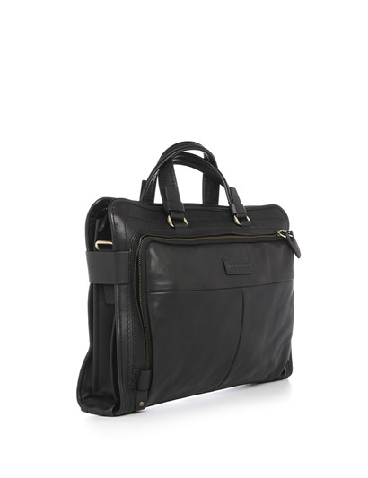Bobbie Men's Shoulder Bag Black Leather