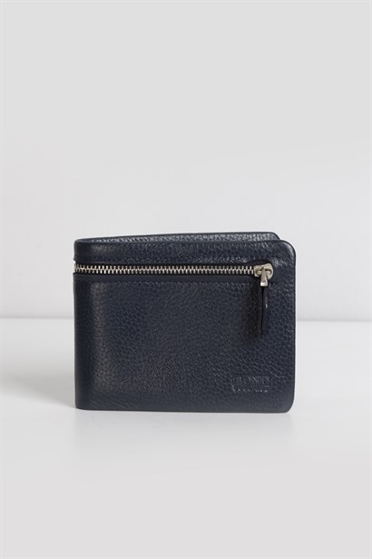 Brodie Mens Wallet Navy Blue Leather