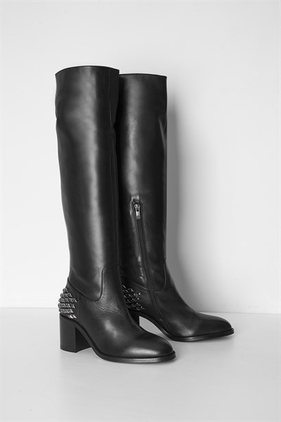 Camille Womens High Boot Black Leather