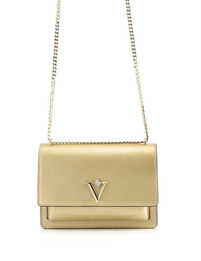 Carissa Womens Shoulder Bag Golden Leather