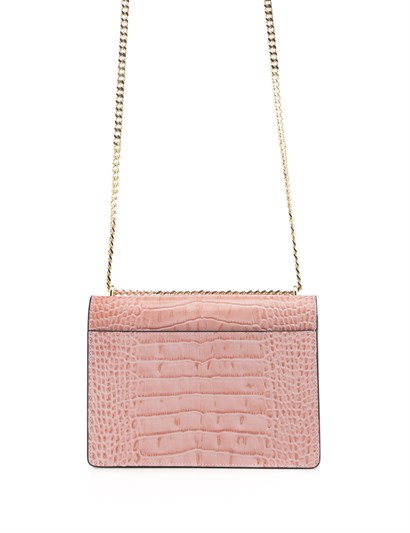Carissa Women's Shoulder Bag Powder Pink Crocodile
