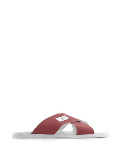 Cascata Mens Slipper Red Leather
