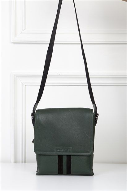 Chang Mens Shoulder Bag Green