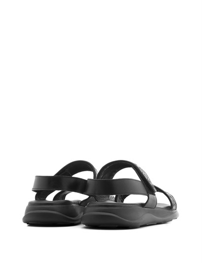 Charles Men's Sandal Black Braid Nappa