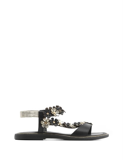 Com Womens Sandal Gold Black