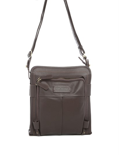 Cooper Men's Shoulder Bag Brown Leather