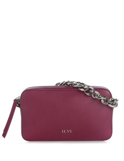 Demi Womens Shoulder Bag Fuchsia Leather