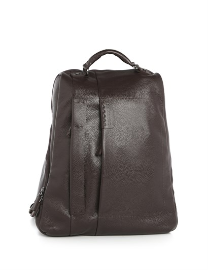 Denton Mens Backpack Brown Leather