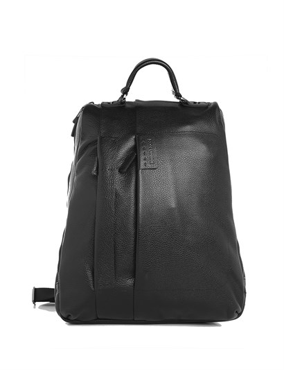 Denton Mens Backpack Black Leather