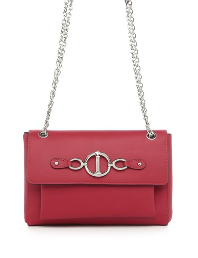 Edeline Womens Shoulder Bag Red Leather