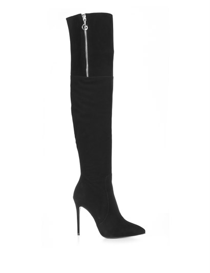 Elena Womens High Boot Black Suede