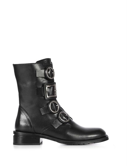 Elina Womens Boot Black Leather