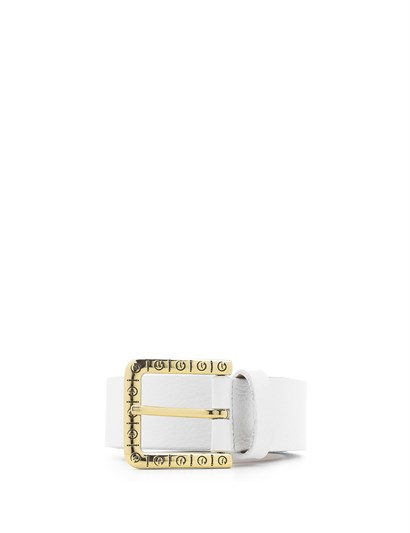 Eliz Womens Belt White Leather