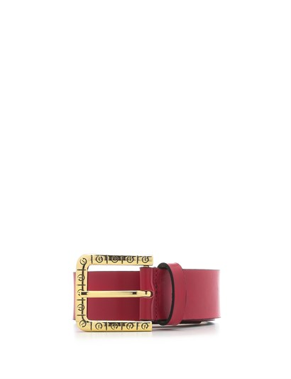 Eliz Womens Belt Red Leather