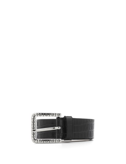 Eliz Womens Belt Black Crocodile