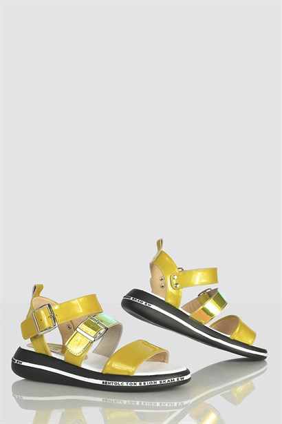 Emilya Womens Sandal Yellow-Transparent