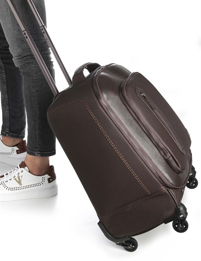 Erwin Unisex Suitcase Brown Leather