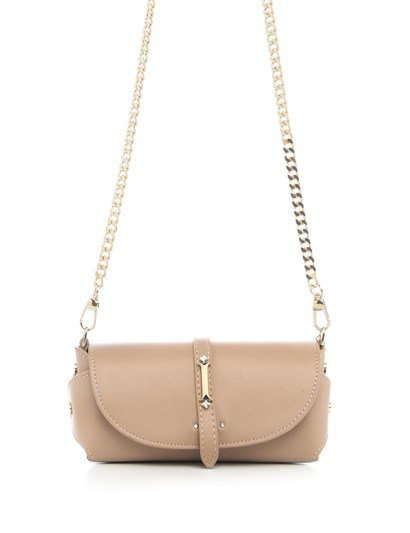 Ethan Womens Shoulder Bag Powder Pink Leather