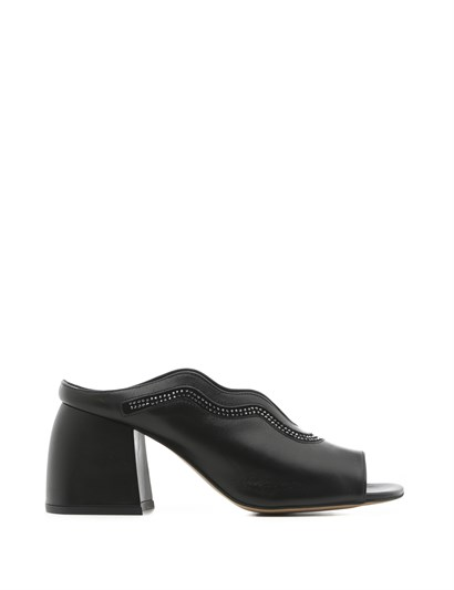 Faya Womens Slipper Black Leather