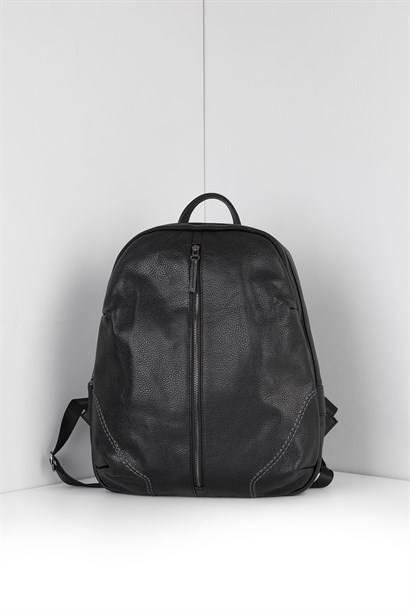 Gektor Unisex Backpack Black Leather