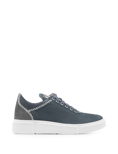 Giomar Mens Sneaker Denim Nubuck Leather