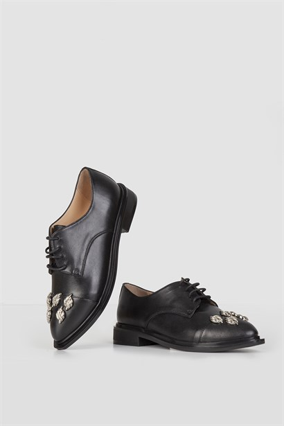 Hayes Womens Oxford Black Leather