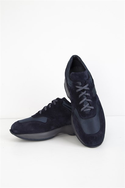 Heath Mens Sneaker Navy Blue Suede