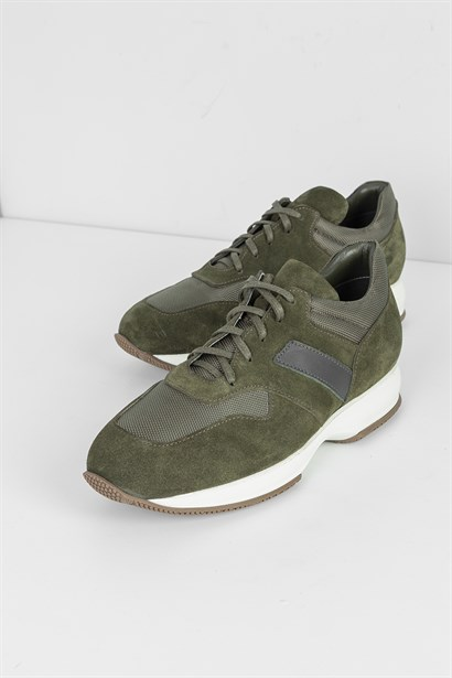 Heath Mens Sneaker Green Suede