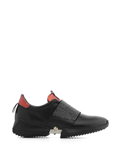 Hoho Womens Sneaker Black Leather